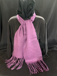Photo of Woven Suri Alpaca Scarf  12 (Dye Purple)