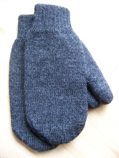 Photo of Reversible double knit mittens