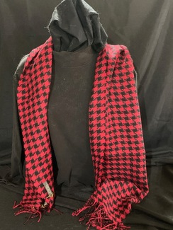 Woven Houndstooth Baby Alpaca Scarf