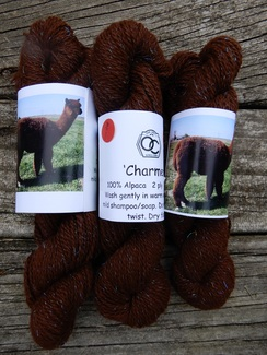Photo of 100% Alpaca Worsted  with nylon sparkle