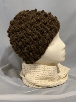 Photo of Knitted Alpaca Popcorn Hat 1