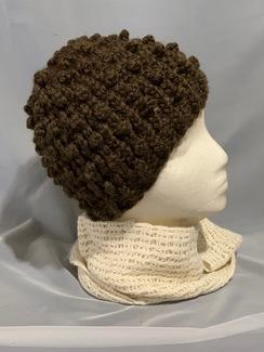 Knitted Alpaca Popcorn Hat 1