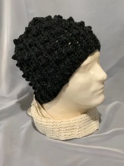 Photo of Knitted Alpaca Popcorn Hat 5