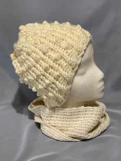 Photo of Knitted Alpaca Popcorn Hat 6