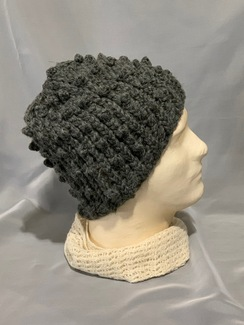 Photo of Knitted Alpaca Popcorn Hat 7