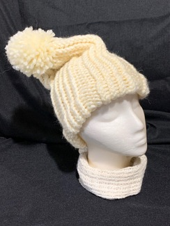 Photo of Knitted Alpaca Hat 4 (w/Pom-Pom)