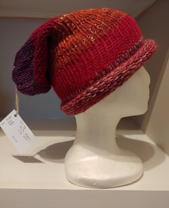 Roll up Brim Knitted Slouch Hat
