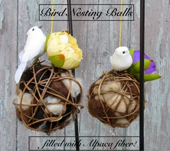 Photo of GARDEN: Bird Nesting Ball ALPACA FIBER.