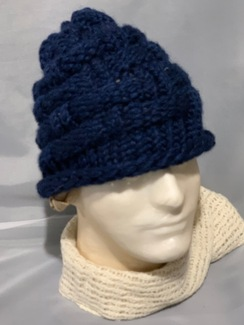 Knitted Alpaca Basket Weave Hat 6