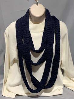 Knitted Alpaca Scarf (Infinity) 3