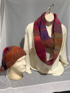 Knitted Wool Hat and Scarf Set 7
