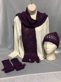 Knitted Alpaca Hat and Scarf Set 5