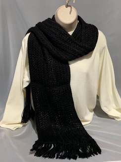 Knitted Alpaca Scarf (with silk) 4