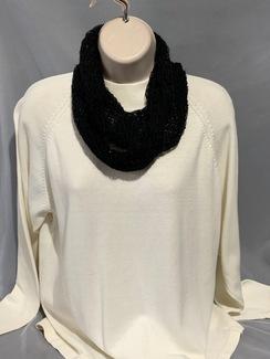 Knitted Alpaca Scarf (Infinity w/silk) 5