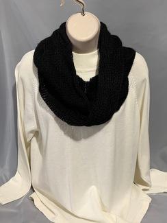 Knitted Alpaca Scarf (Infinity w/silk) 6
