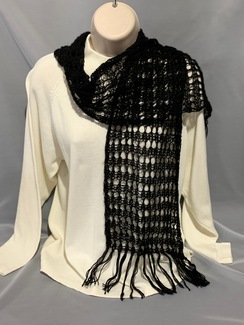 Photo of Knitted Alpaca Scarf (Lace w/silk) 7