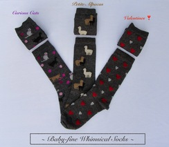SOCKS: Baby-fine Alpaca. Whimsical!