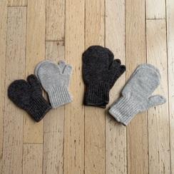 Kid's alpaca mittens