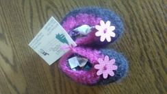 Felted infant slippers