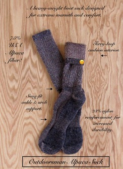 SOCKS: 75% PRIME Alpaca OUTDOORSMAN