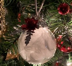 Photo of Alpaca Floating Fiber Christmas Ornament
