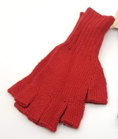 Fingerless Knit Alpaca Glove