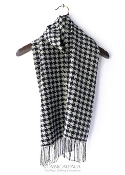 Photo of Woven & Brushed Houndstooth Baby Alpaca