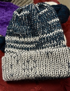 Photo of Alpaca Hat - White/Blue