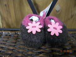 Photo of Felted infant slippers