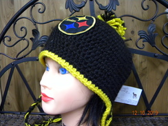 Photo of Assorted hats in Pittsburgh Colors