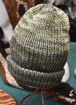 Photo of Alpaca Hat - Green/White