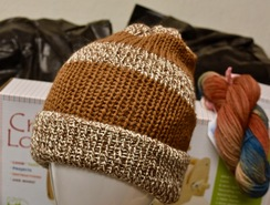 Photo of Alpaca Hat - Brown / White