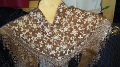 Photo of Alpaca felted onto a shawl
