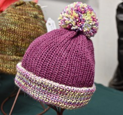 Photo of Alpaca Hat -  Dark Pink/Variated