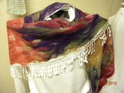 Photo of alpaca shawl