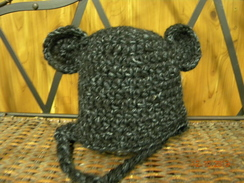 Photo of Alpaca and Acrylic Teddy Hat