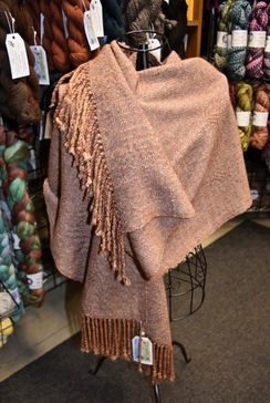 Photo of Woven Alpaca Shawl - Bronze / Grey