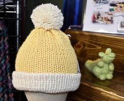 Photo of Alpaca Hat - Yellow / White
