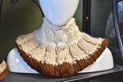Photo of Alpaca Cowl - Brown / Cream