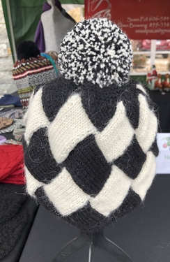 Patchwork Knit Alpaca Hat