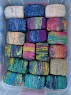 Felted Goats Milk Soap
