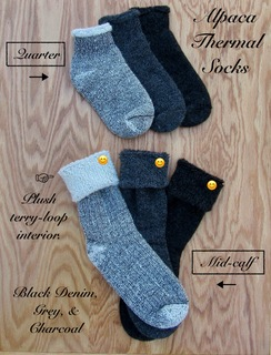 Photo of SOCKS: 75% Alpaca THERMAL: Quarter