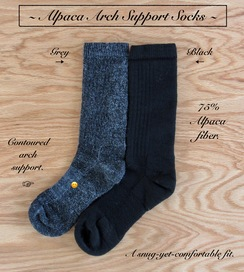 Photo of SOCKS: ARCH SUPPORT  75% Alpaca