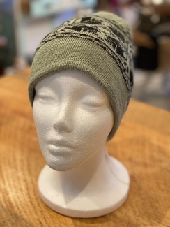 100% Alpaca Hat/Green