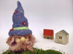 Photo of Needle Felted Garden Gnome