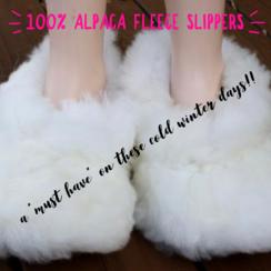 100% Baby Alpaca Slippers