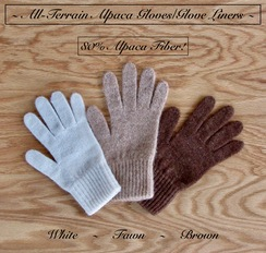 Photo of GLOVE LINER: 80% Alpaca GLOVE/MITTEN