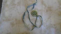 Swarovski Pendant & Hand Dyed Ribbon 27