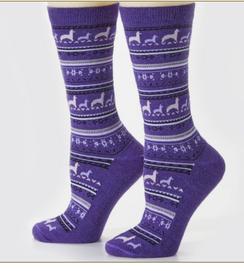 Alpaca Print Crew Sock