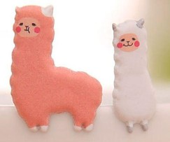 Alpaca & Sheep 3D Stickers